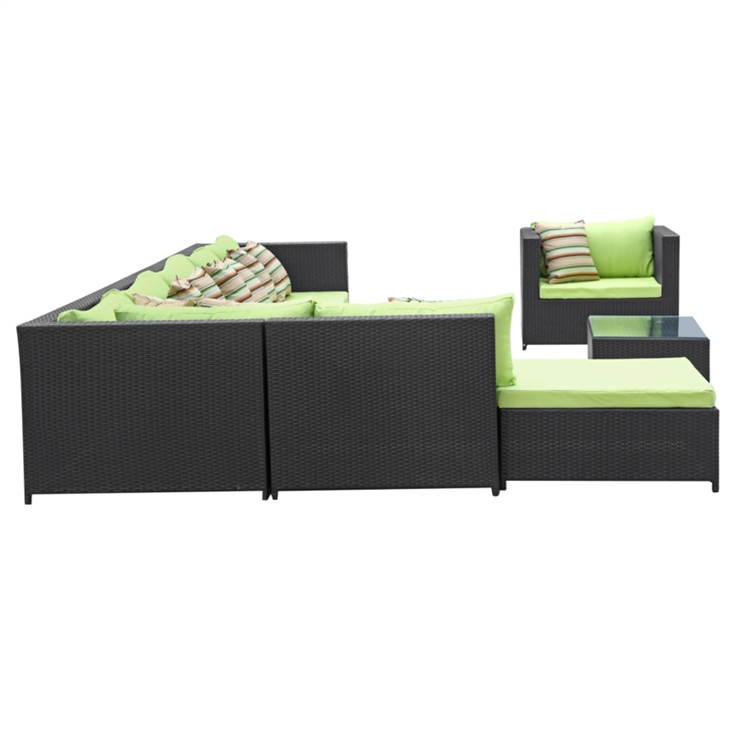 Garden 7 Piece Outdoor Rattan Espresso with Green Cushion : FMI10026 green 5 from www.finemodimports.com size 750 x 750 jpeg 115kB