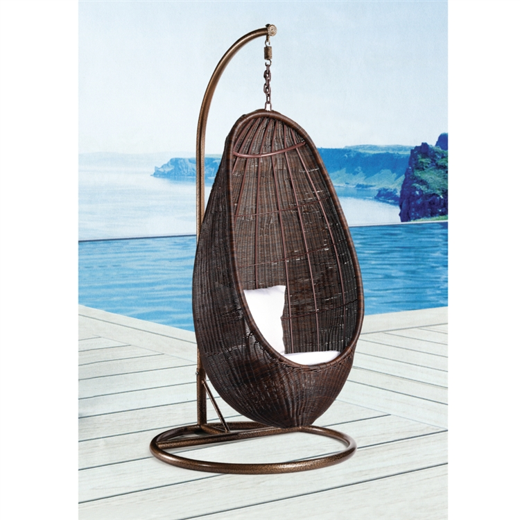 Hanging chair for bedroom - Rattan Hanging Chair With Stand