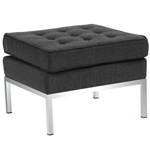 Button Ottoman in Wool