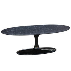 Flower Coffee Table Oval Marble Top