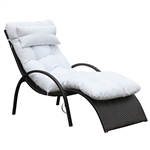 Otello Outdoor Lounge Chair, White