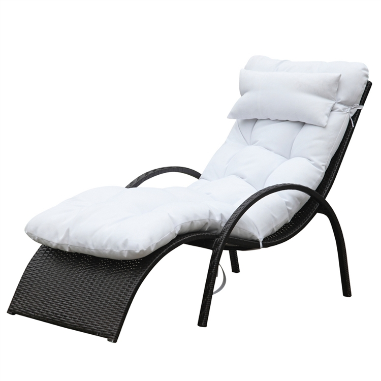 Outdoor lounge chairs folding lounge chair outdoor lounge for Allen roth steel patio chaise lounge