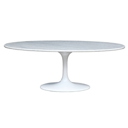 Flower Marble Table Oval 60""