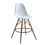 WoodLeg Counter Chair, Round Base