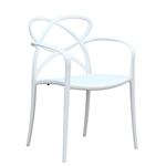 Script Dining Chair, White