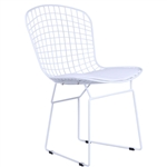 White Wire Side Chair