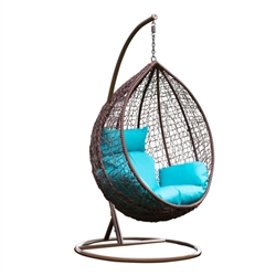 Grand Outdoor Hanging Swing Chair With Stand