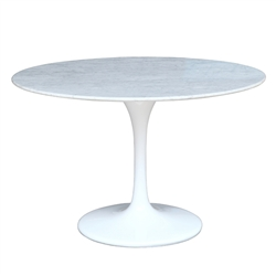 "Flower Marble Table 60"" White"