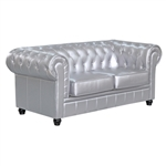 Chestfield Loveseat Silver