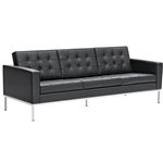 Button Sofa in Leather