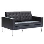 Button Loveseat in Leather