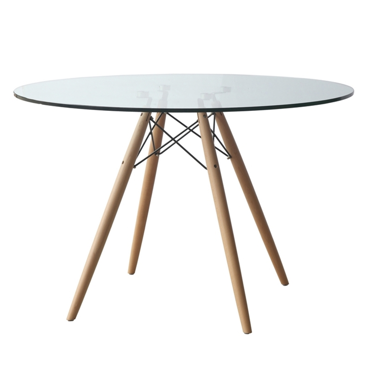 ... Modern Ideas Glass Dining Table Minimalist Room 48 Round ...