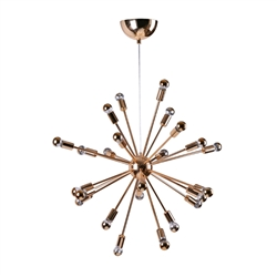 "Spark Hanging Chandelier 23"" Gold"