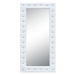 Tufted Mirror 36, White