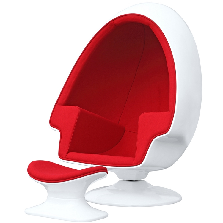 Alpha egg chair and ottoman for Egg chair nachbildung