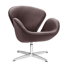 Swan Chair Dark Brown Leather