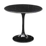 Flower End Side Table Black Marble Top